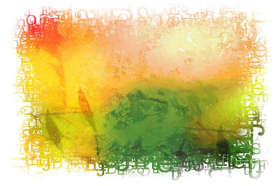 Abstract Design Mixed Media - Message by Lutz Baar