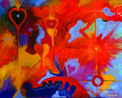Art Print featuring the painting Message Of Love by Alison Caltrider