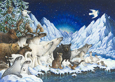 Winter Scene Painting - Message Of Peace by Lynn Bywaters
