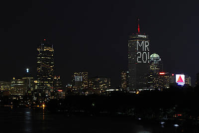 Mfa Photograph - Message On Boston Prudential Center For Malcolm Rogers by Juergen Roth