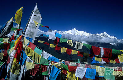 Tibetan Buddhism Photograph - Messages For The Gods by James Brunker