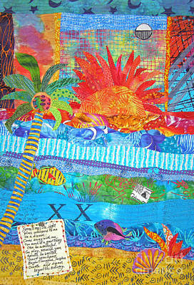 Tapestry - Textile - Messages From Paradise by Susan Rienzo