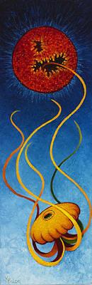 Fantastique Painting - Messenger by Karen Balon