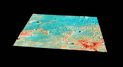 Impact Photograph - Messenger Landing Site by Nasa/johns Hopkins University Applied Physics Laboratory/carnegie Institution Of Washington