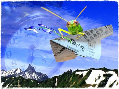 Outdoors Digital Art - Messenger Of Time -manabu  by Vin Kitayama