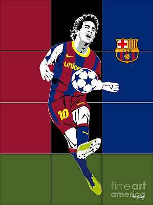 Basket Ball Painting - Messi by Roby Marelly