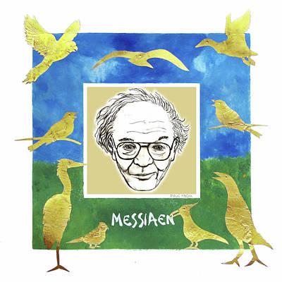 Seagull Mixed Media - Messiaen by Paul Helm