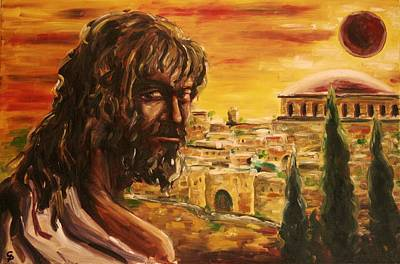 Messiah In Jerusalem Art Print by George Dadiani