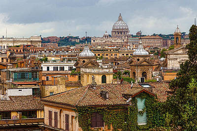 Messy Fascinating And Wonderful - The Roofs Of Rome Art Print
