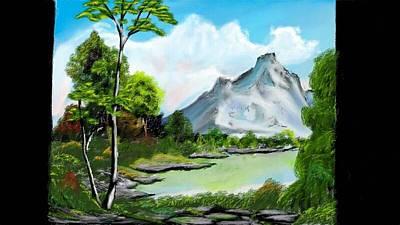 Messy Greenery Art Print by Arjuna Enait