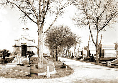 Metairie Cemetery, New Orleans, Cemeteries Print by Litz Collection