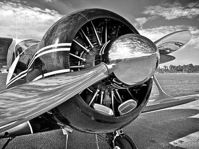 Beechcraft Photograph - Metal And Sky by Jim Lipschutz