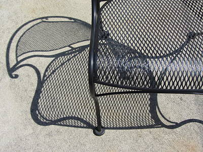 Photograph - Metal Chair And Shadow 3 by Anita Burgermeister