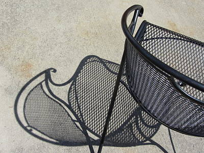 Photograph - Metal Chair And Shadow 5 by Anita Burgermeister