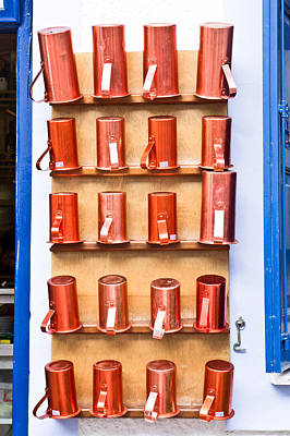 Diverse Photograph - Metal Cups by Tom Gowanlock