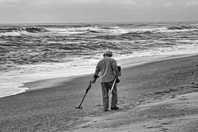 Cargo Boats Rights Managed Images - Metal Detecting Royalty-Free Image by Carolyn Ricks