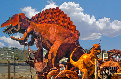 Metal Dinosaurs - 01 Art Print by Gregory Dyer