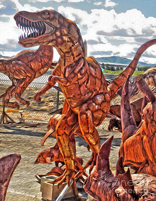 Painting - Metal Dinosaurs - 03 by Gregory Dyer