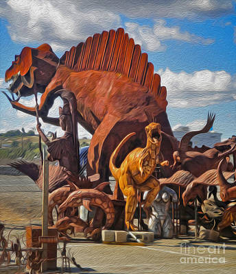 Painting - Metal Dinosaurs - 05 by Gregory Dyer