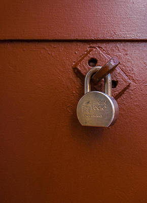 Photograph - Metal Door With Lock by James Hammond