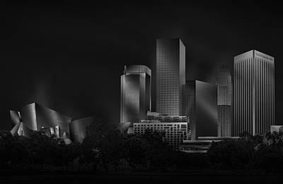 Skyscrapers Wall Art - Photograph - Metal Downtown L.a. by Jose Antonio Parejo
