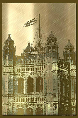 Photograph - Metal England Castle by Debra     Vatalaro