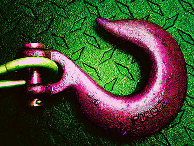 Photograph - Metal Hook 1 by Laurie Tsemak