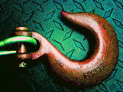 Photograph - Metal Hook 2 by Laurie Tsemak