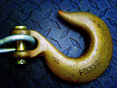 Photograph - Metal Hook 5 by Laurie Tsemak