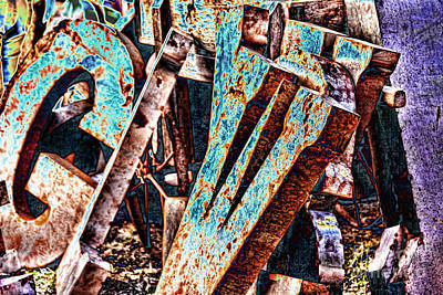 Photograph - Metal Letters by Audreen Gieger