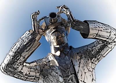 Photograph - Metal Man by Regina Arnold
