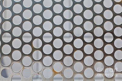 Screen Metal Sheet Photograph - Metal Mesh Holes by Jim Pruitt
