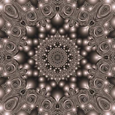 Digital Art - Metal pattern by Igor Sinitsyn