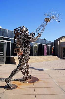Welded Art Photograph - Metal Street Art by Mark Williamson