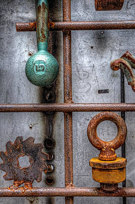 Photograph - Metal Textures by Martin New