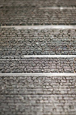 Photograph - Metal Type by Chris Bordeleau