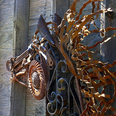 Sculpture - Metal Wildfire by Peggi Bell