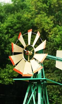 Metal Windmill Art Print by Christopher Hoffman