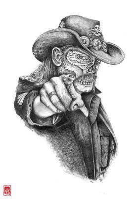 Lemmy Drawing - Metal Zombie Heroes Lemmy Kilmister Motorhead by Jakub DK