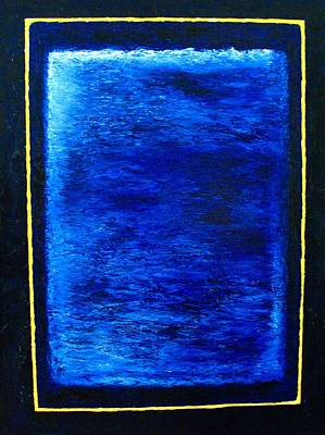 Cold Temperature Painting - Metallic Blue by Frank B Shaner