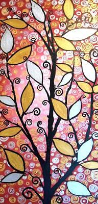 Metallic Leaves Art Print