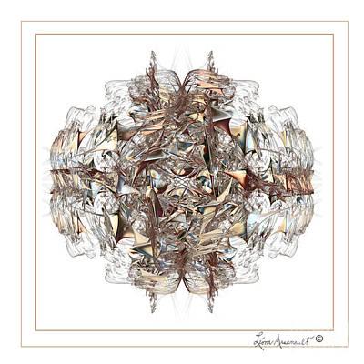 Metallic On White Art Print