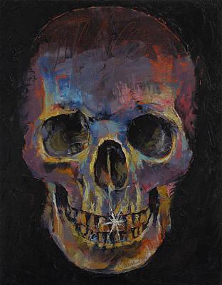 Skull Art Print by Michael Creese