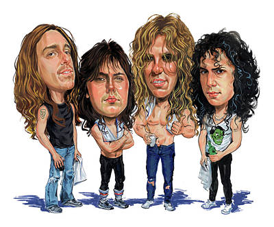 Comics Royalty-Free and Rights-Managed Images - Metallica by Art