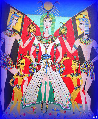Painting - Metamorphosis Of Melisa Into Nefertiti by Marie Schwarzer