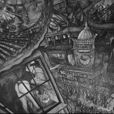 Metamorphosis Stage 2 Of 4 Alternate View Art Print by Vincent Fink