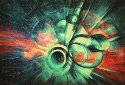 Broken Pieces Painting - Metanoia by Taylan Apukovska