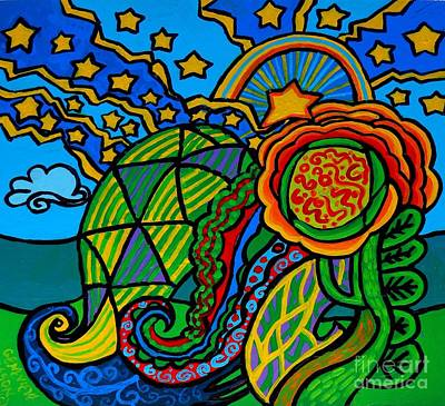 Eco-art Painting - Metaphysical Starpalooza by Genevieve Esson
