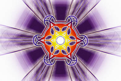 Drawing - Metatron Frequencies by Derek Gedney