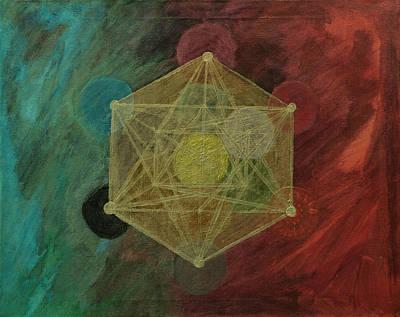 Metatron Cube Painting - Metatrons Cube by Graham McClean